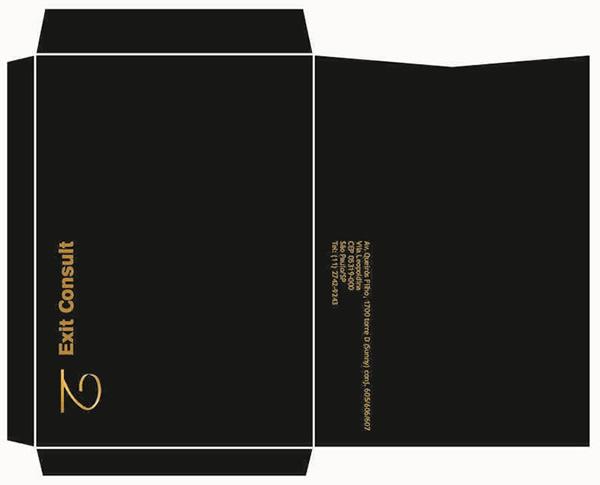 Envelope 20X28 Impressão 4 Cores da Faca Especial da Exit Consult