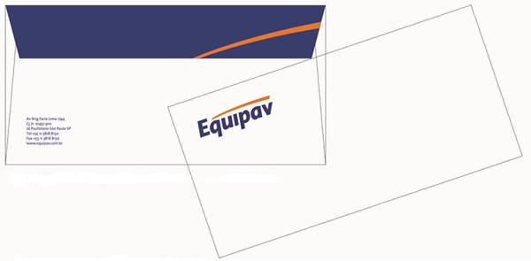 Envelope Ofício Impressão 2 Cores Frente e Verso Equipav