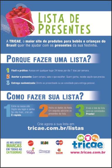 Folheto Tricae