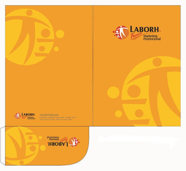 Pasta com Bolsa Impressa da Laborh